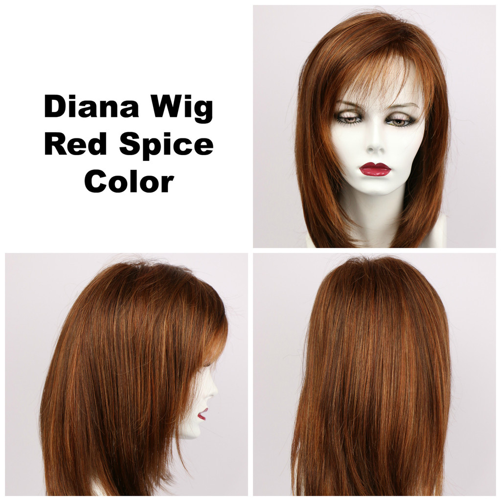 Red Spice / Diana Lace Front / Long Wig