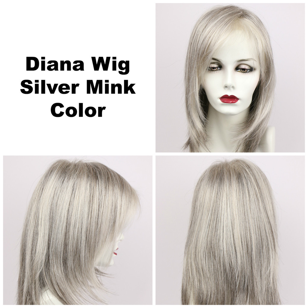 Silver Mink / Diana Lace Front / Long Wig