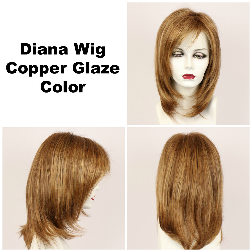 Copper Glaze / Diana Lace Front / Long Wig