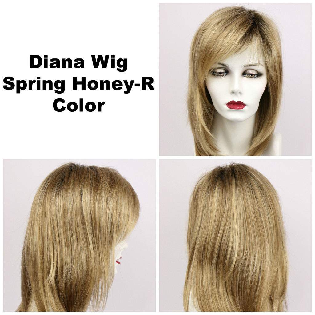 Spring Honey-R / Diana Lace Front w/ Roots / Long Wig