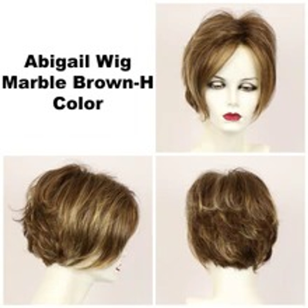 Marble Brown-H / Abigail Lace Front / Medium Wig