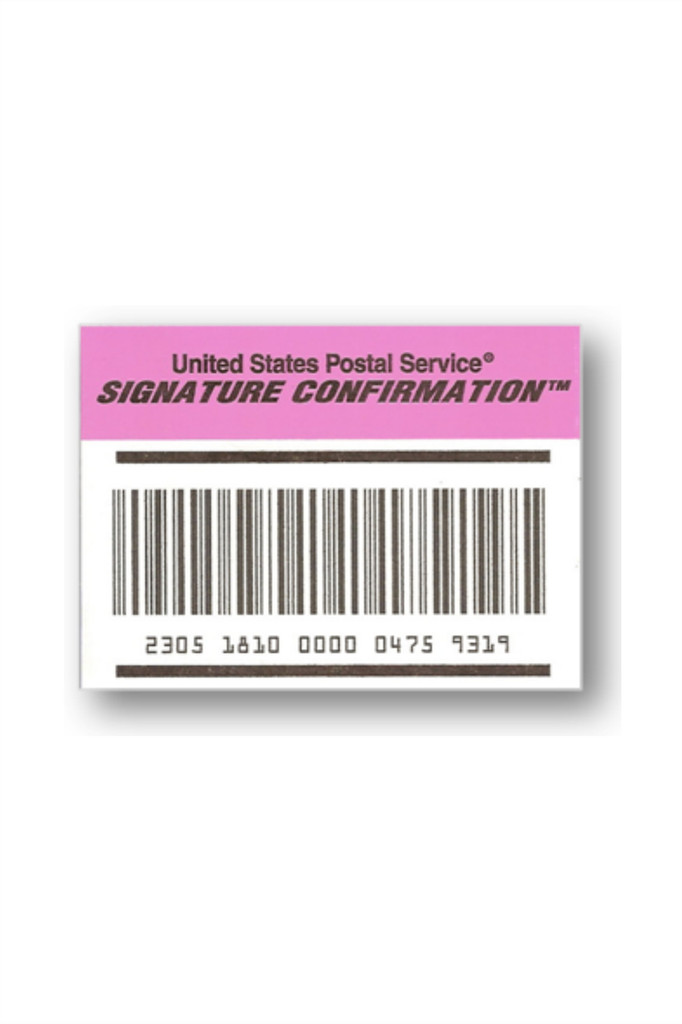 Signature Confirmation / Additional Cost / US Only