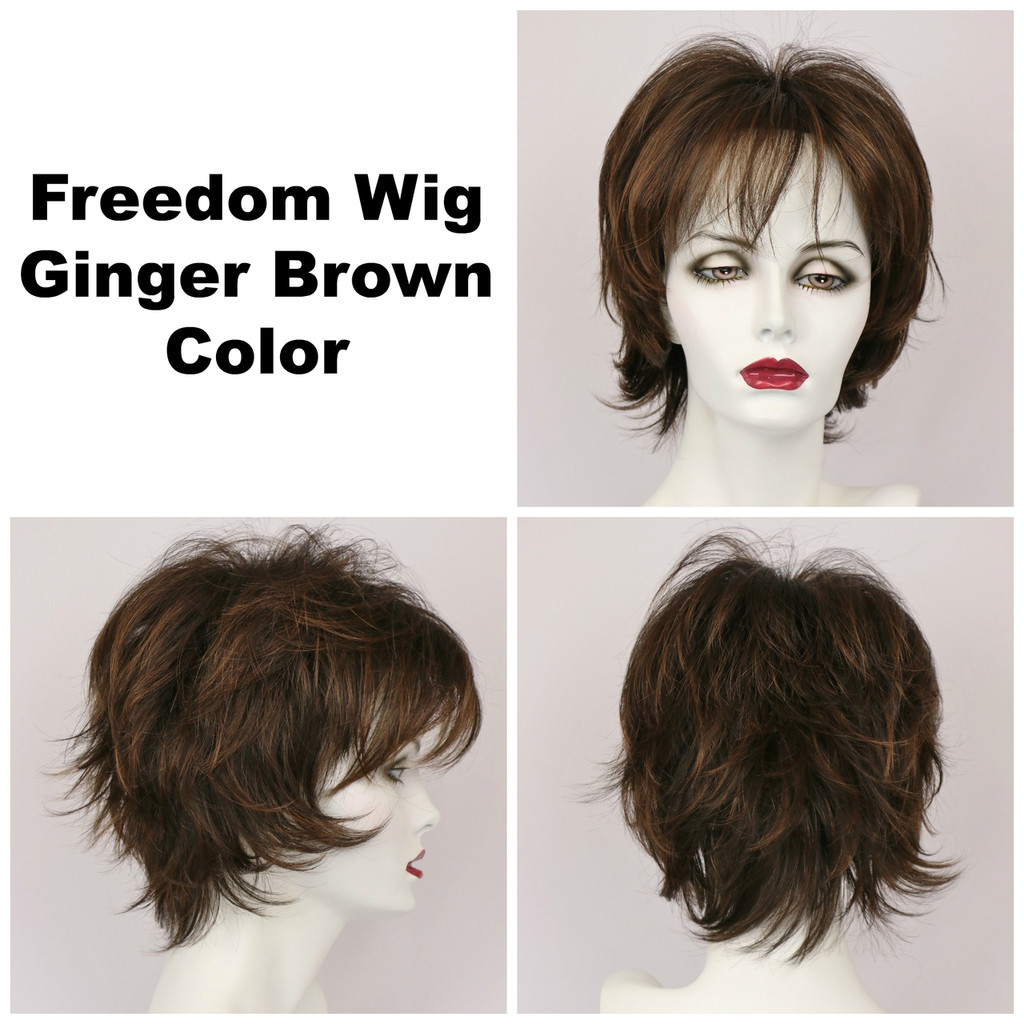Ginger Brown / Large Freedom / Medium Wig