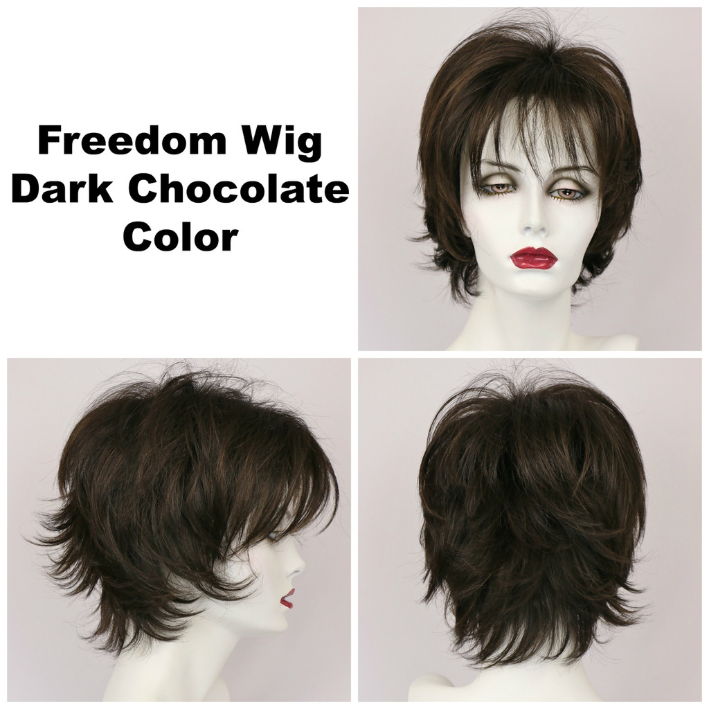Dark Chocolate / Large Freedom / Medium Wig