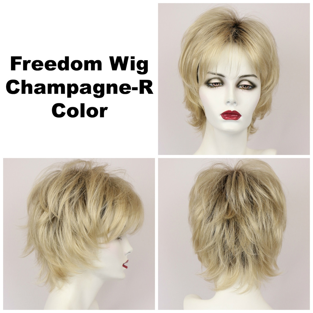 Champagne-R / Large Freedom w/ Roots / Medium Wig