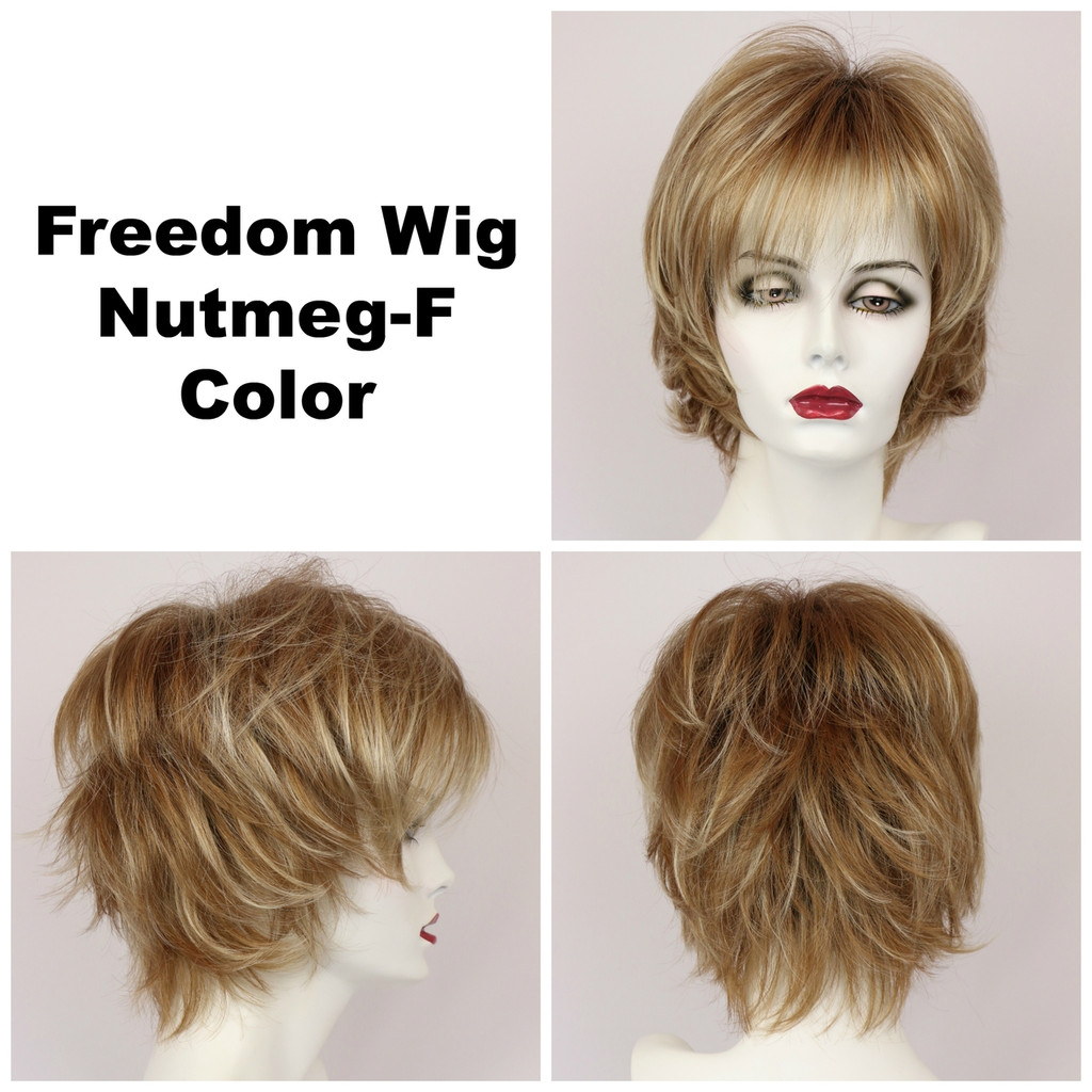 Nutmeg-F / Large Freedom w/ Roots / Medium Wig