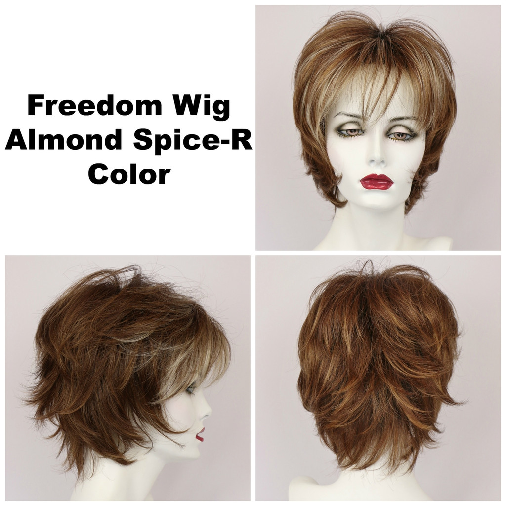 Almond Spice-R / Large Freedom w/ Roots / Medium Wig