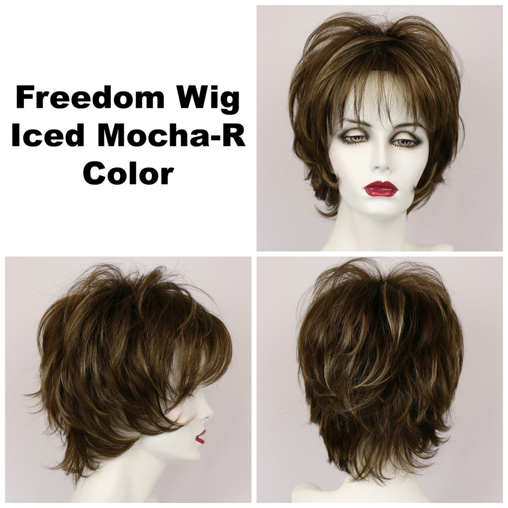 Iced Mocha-R / Large Freedom w/ Roots / Medium Wig