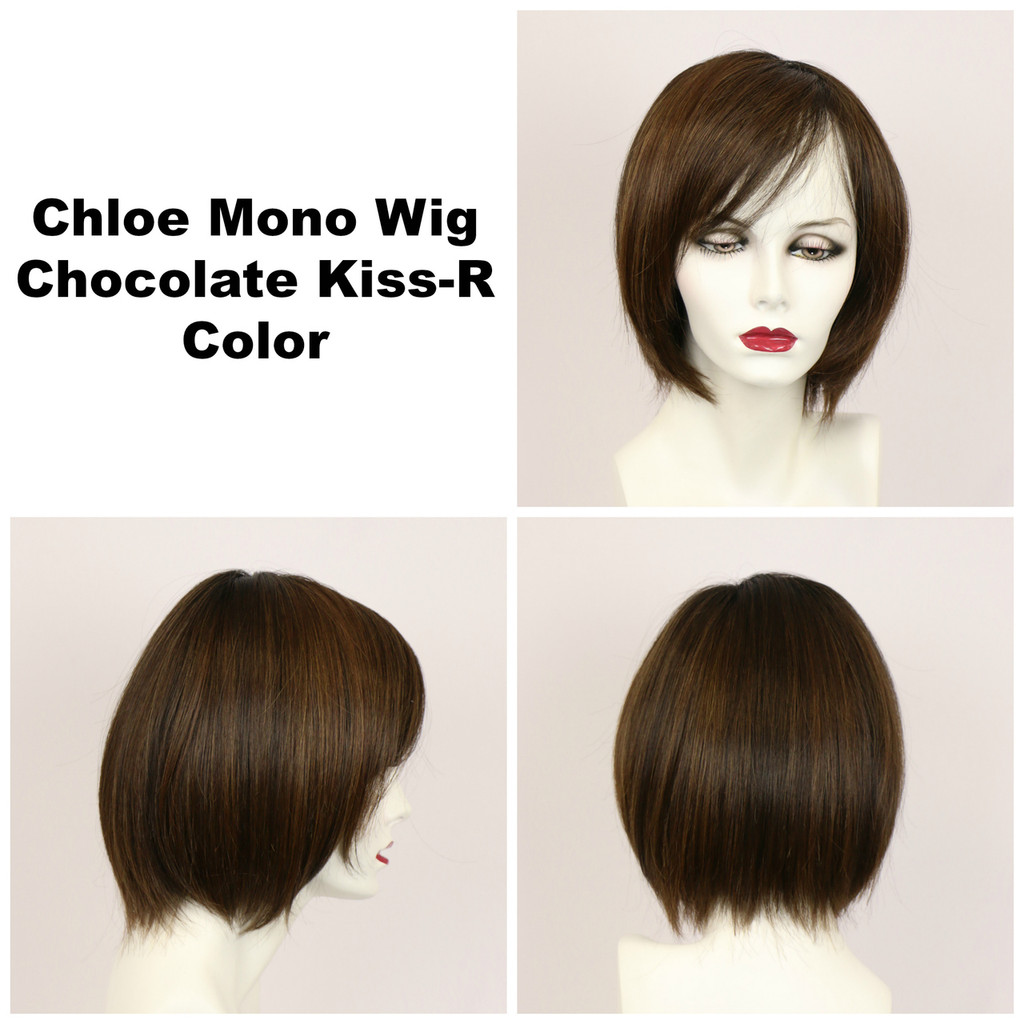 Chocolate Kiss-R / Chloe Monofilament w/ Roots / Medium Wig