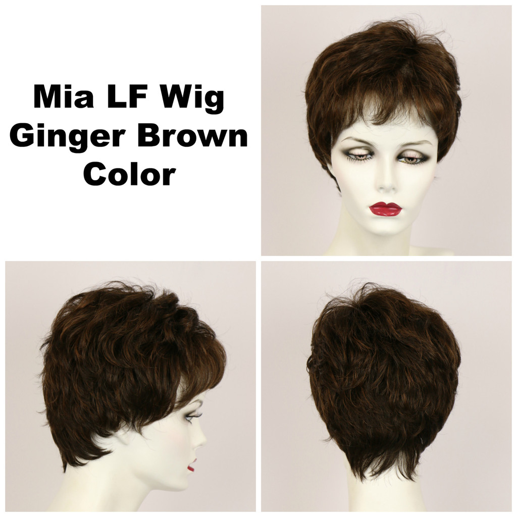 Ginger Brown / Mia Lace Front / Short Wig