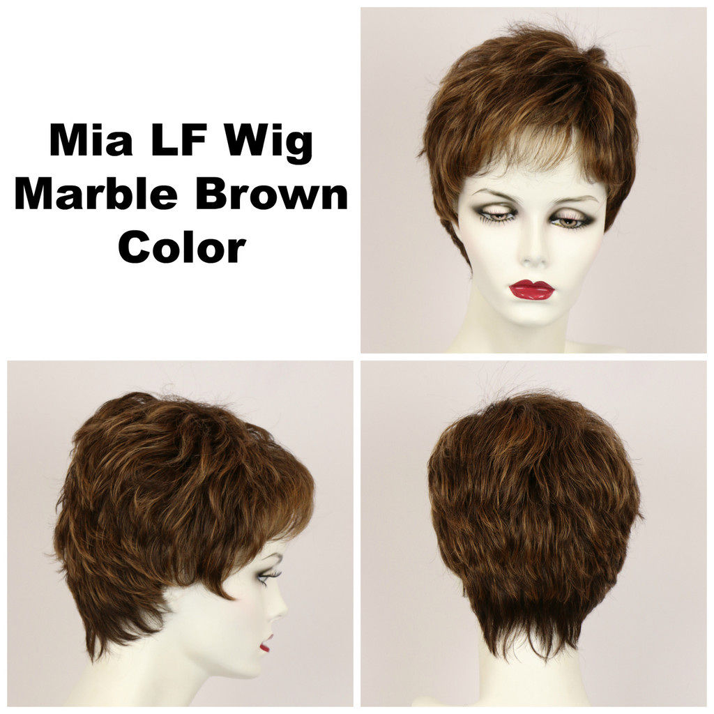 Marble Brown / Mia Lace Front / Short Wig