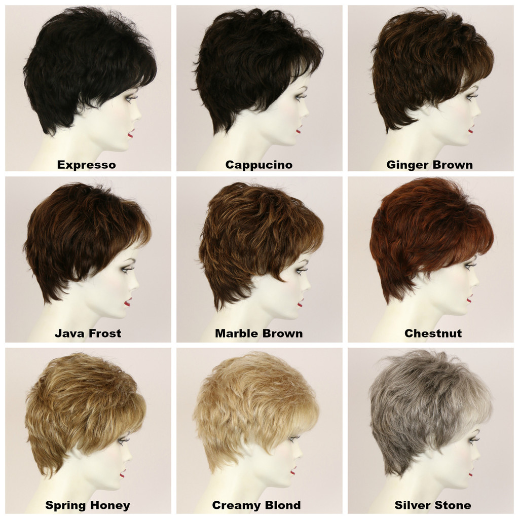 Color Chart / Mia Lace Front / Short Wig
