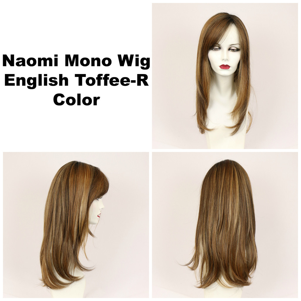 English Toffee-R / Naomi Monofilament w/ Roots / Long Wig