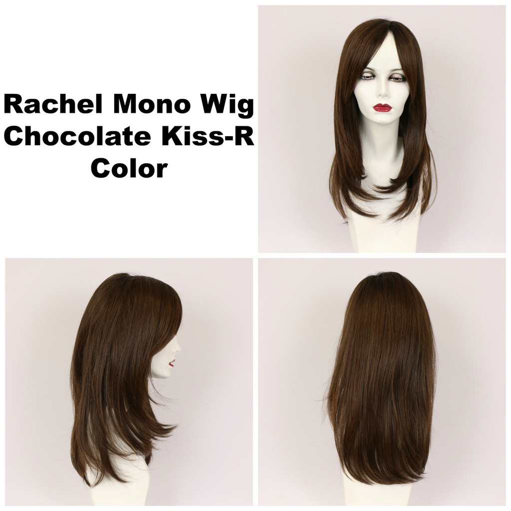 Chocolate Kiss-R / Rachel Monofilament w/ Roots / Long Wig