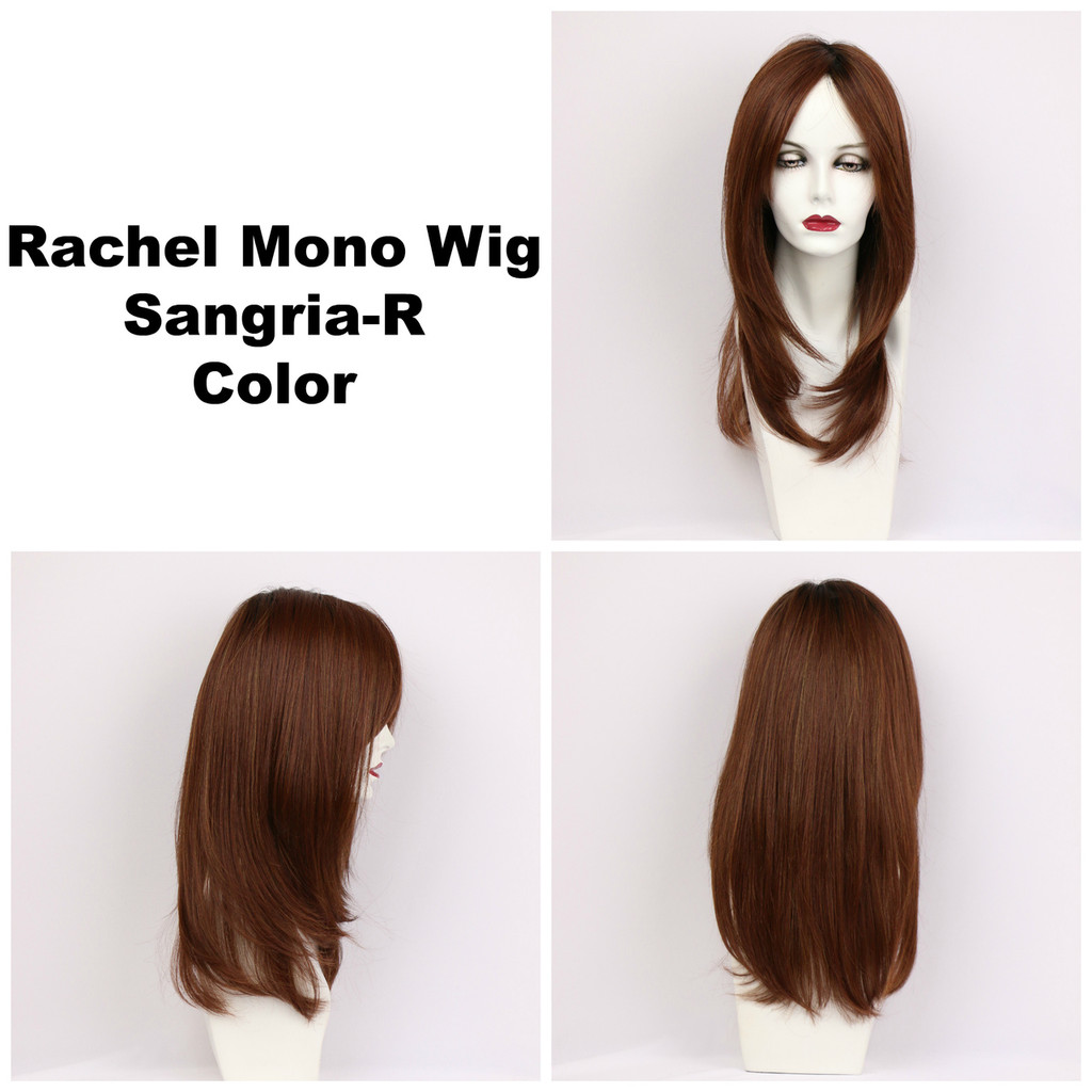 Sangria-R / Rachel Monofilament w/ Roots / Long Wig