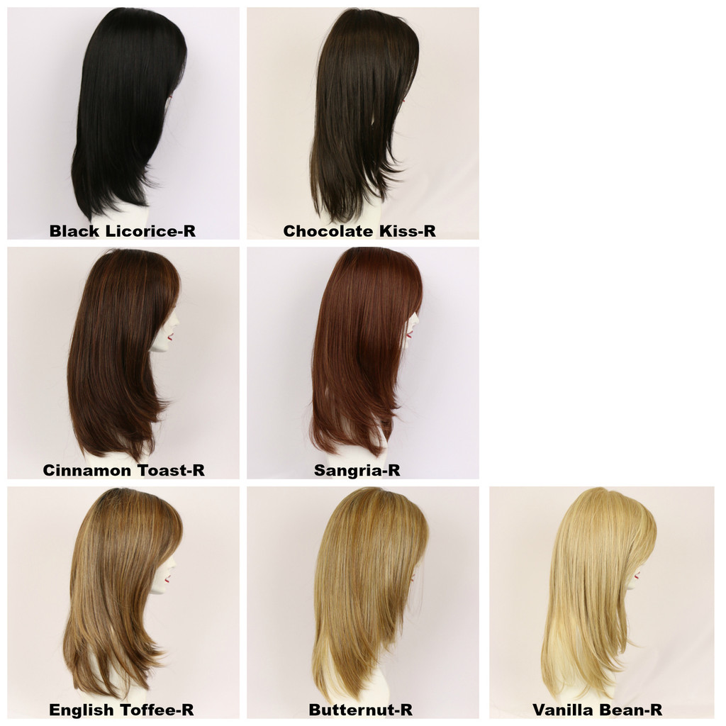 Color Chart / Rachel Mono w/ Roots / Long Wig