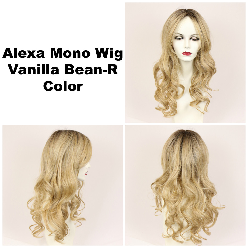 Vanilla Bean-R / Alexa Monofilament w/ Roots / Long Wig