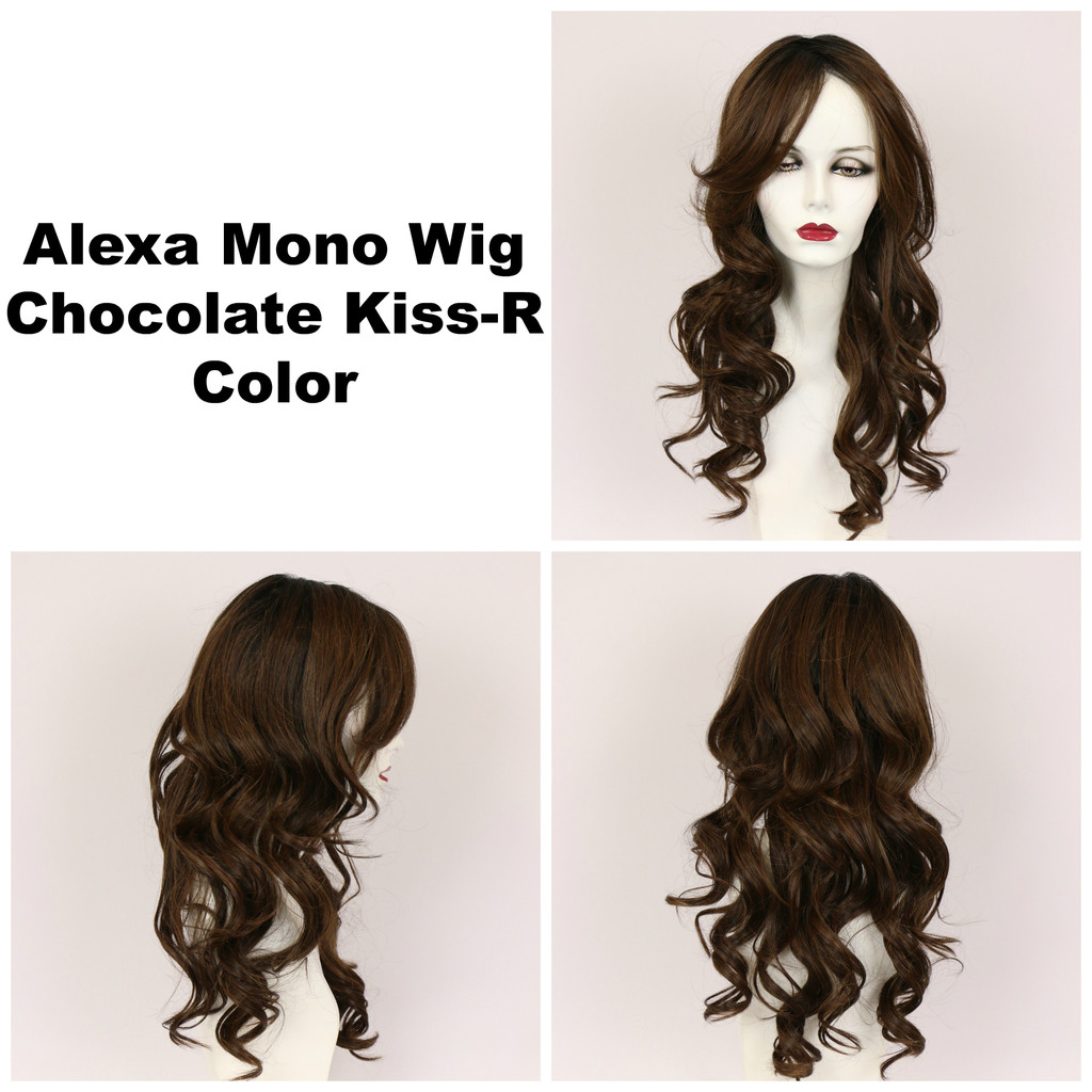 Chocolate Kiss-R / Alexa Monofilament w/ Roots / Long Wig