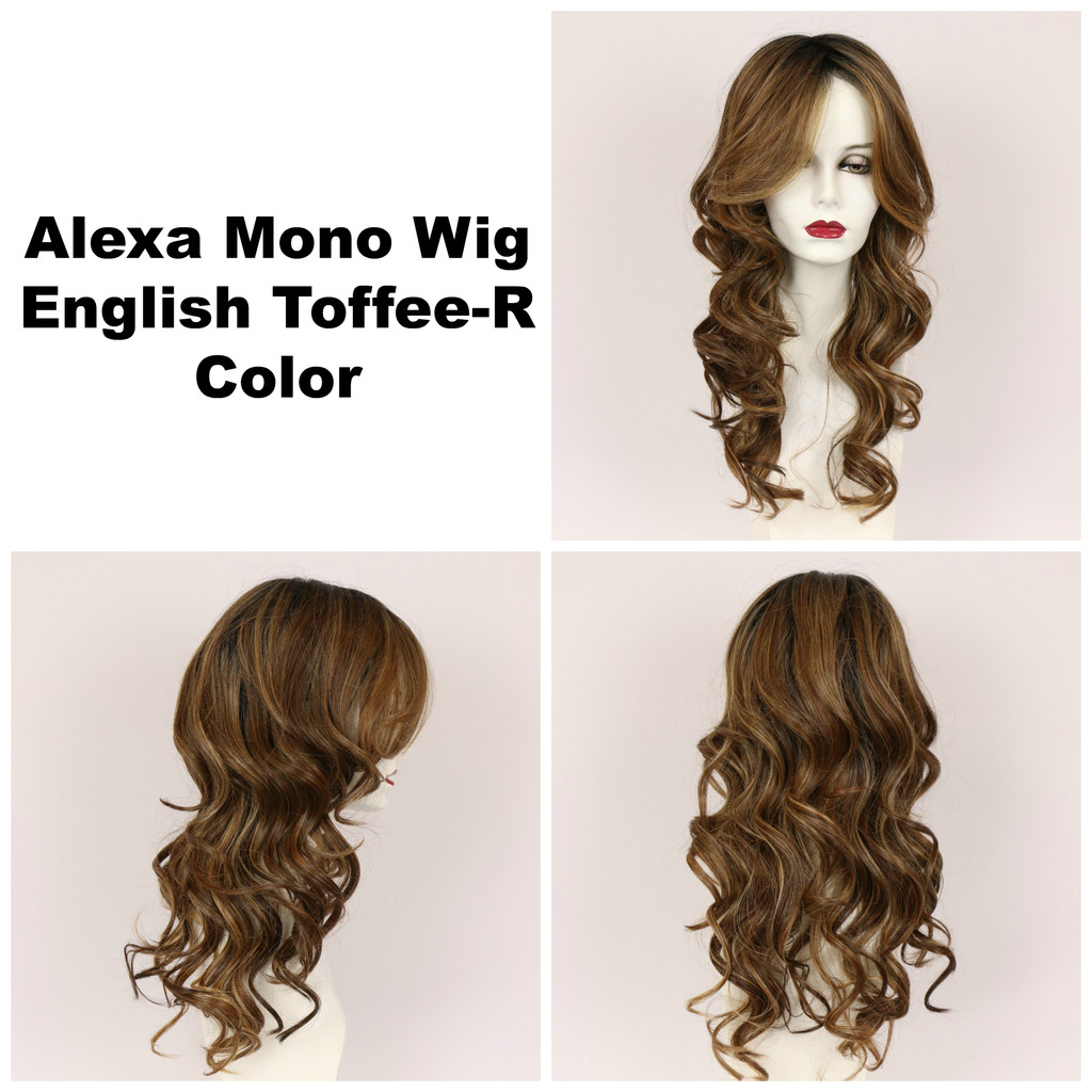 English Toffee-R / Alexa Monofilament w/ Roots / Long Wig