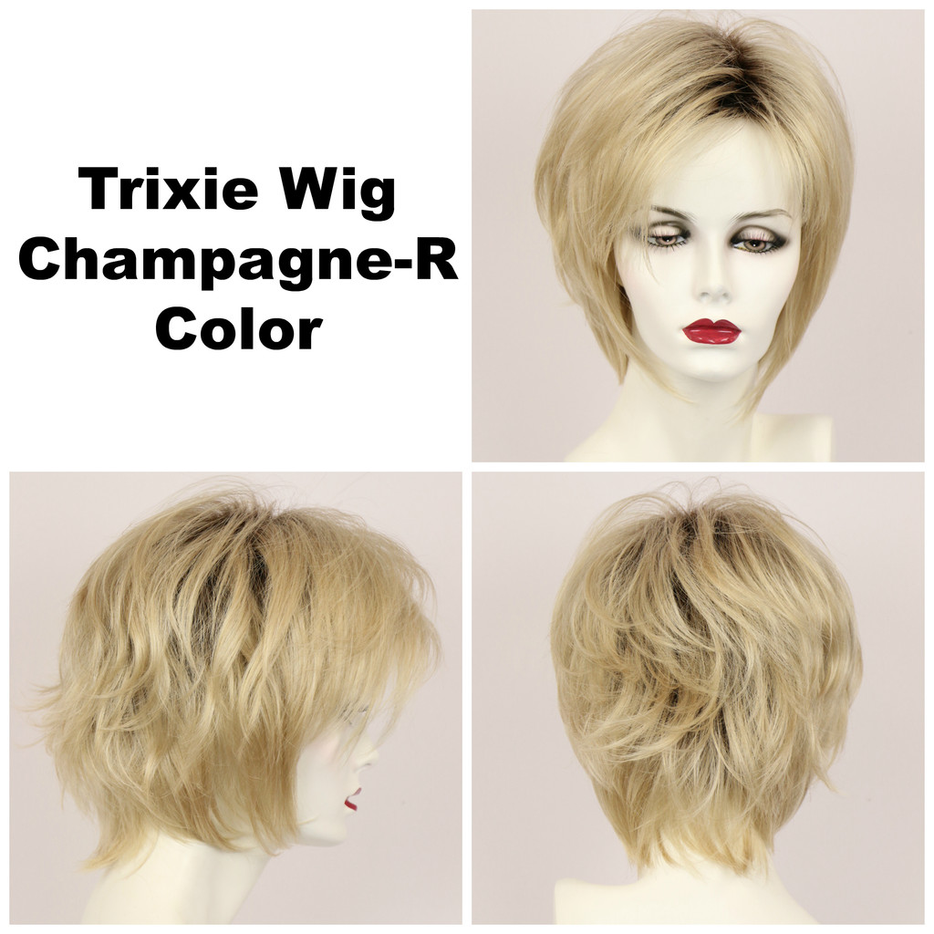 Champagne-R / Large Trixie w/ Roots / Medium Wig