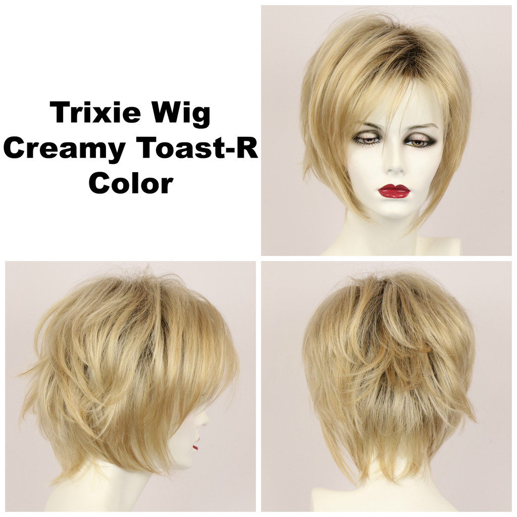 Creamy Toast-R / Large Trixie w/ Roots / Medium Wig