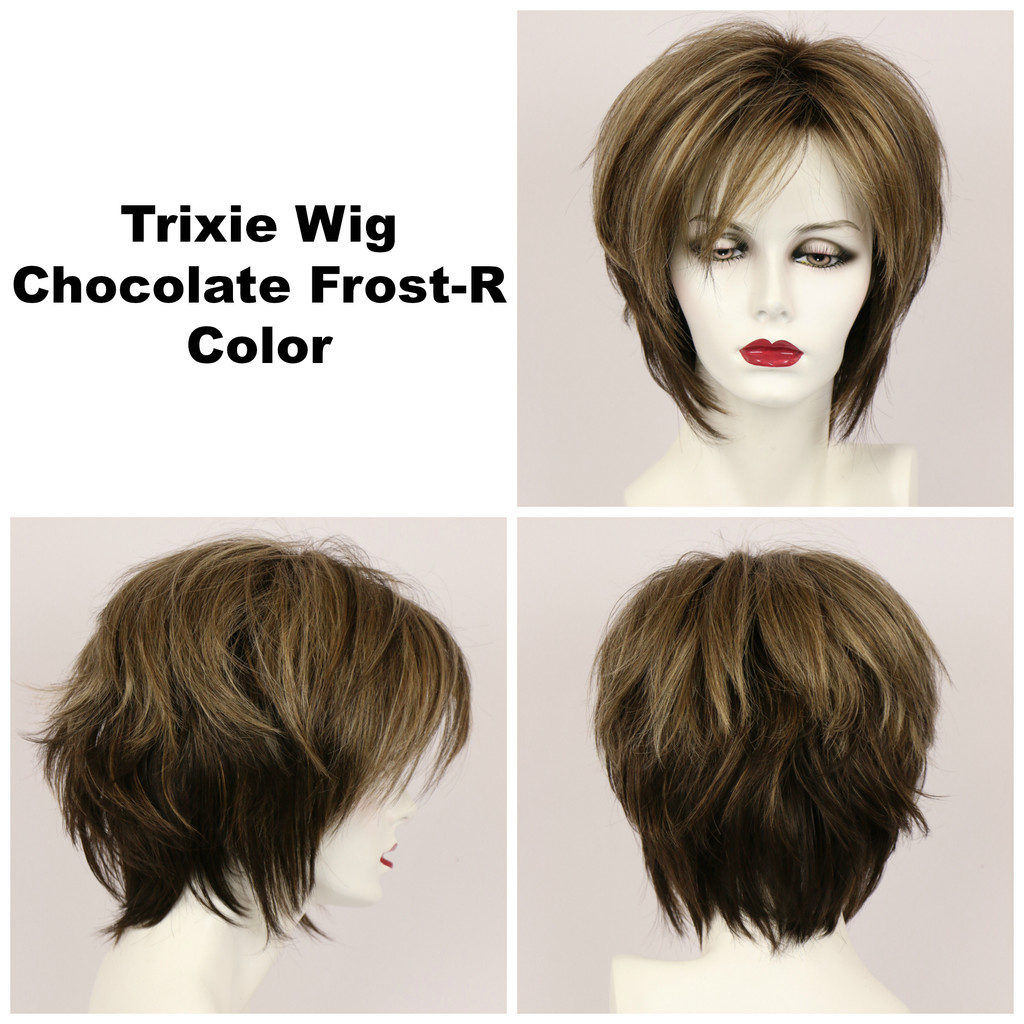 Chocolate Frost-R / Large Trixie w/ Roots / Medium Wig