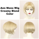 Creamy Blond / Ann Monofilament / Short Wig