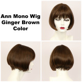 Ginger Brown / Ann Monofilament / Short Wig