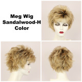 Sandalwood-H / Meg w/ Roots / Short Wig