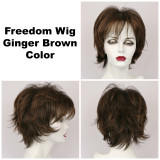 Ginger Brown / Freedom / Medium Wig