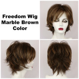 Marble Brown / Freedom / Medium Wig