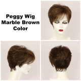 Marble Brown / Peggy / Short Wig