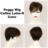 Coffee Latte-R / Peggy w/ Roots / Short Wig