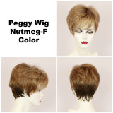 Nutmeg-F / Peggy w/ Roots / Short Wig