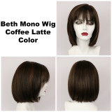 Coffee Latte / Beth Monofilament / Medium Wig