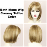 Creamy Toffee / Beth Monofilament / Medium Wig