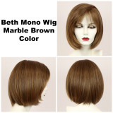 Marble Brown / Beth Monofilament / Medium Wig