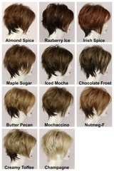 Color Chart / Kelly w/ Roots / Short Wig