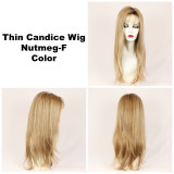 Nutmeg-F / Thin Candice w/ Roots / Long Wig