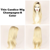 Champagne-R / Thin Candice w/ Roots / Long Wig