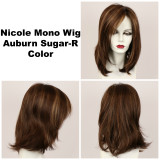 Auburn Sugar-R / Nicole Monofilament w/ Roots / Medium Wig