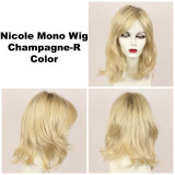 Champagne-R / Nicole Monofilament w/ Roots / Medium Wig