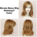 Nutmeg-F / Nicole Monofilament w/ Roots / Medium Wig