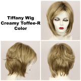 Creamy Toffee-R / Tiffany w/ Roots / Medium Wig