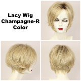 Champagne-R / Lacy w/ Roots / Medium Wig