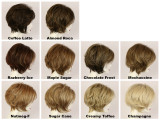 Color Chart / Lacy w/ Roots / Medium Wig