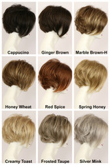 Color Chart / Abigail Lace Front / Medium Wig