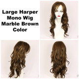 Marble Brown / Large Harper Monofilament / Long Wig