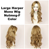 Nutmeg-F / Large Harper Monofilament w/ Roots / Long Wig
