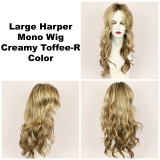 Creamy Toffee-R / Large Harper Monofilament w/ Roots / Long Wig
